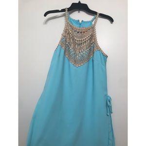 Lilly Pulitzer Bali Blue Pearl Romper Size 10
